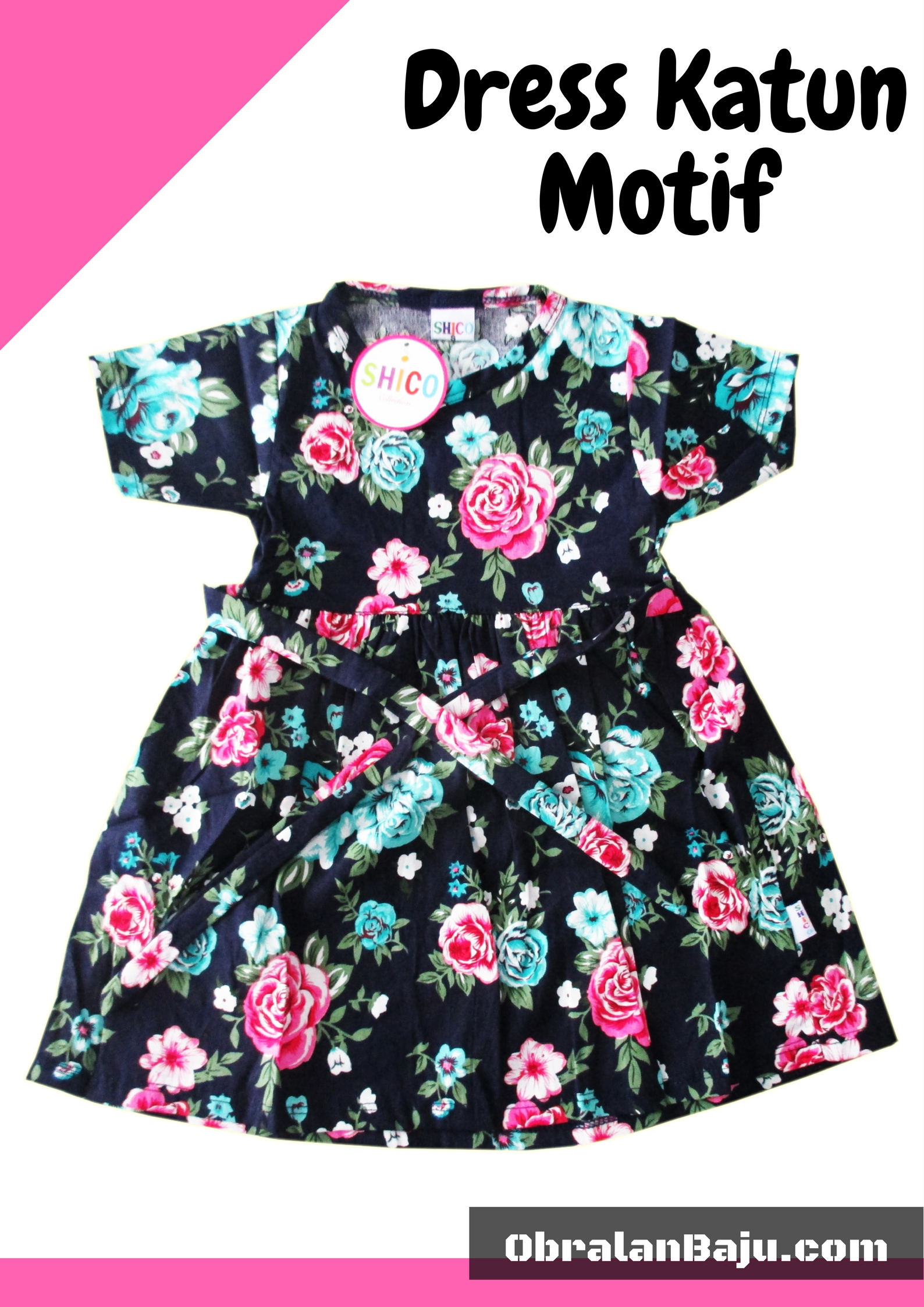 dress katun anak murah